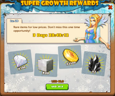 Growth Gift lvl 20