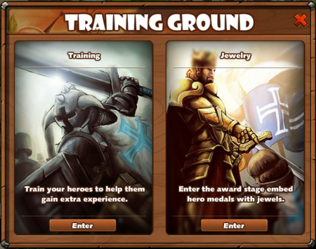 Training Grounds Selection Screen