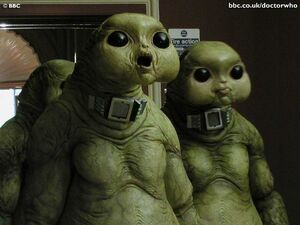 Slitheen Staring Blankly Into The Corner Of The Room