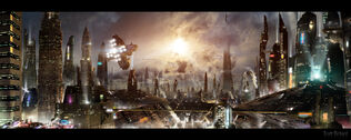 Futuristic city 3 updated background by rich35211-d5a88fo