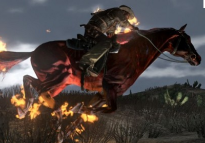 Undead horse with master