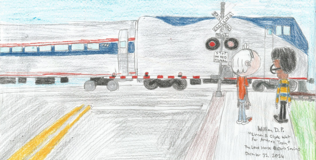 File:Lincoln and Clyde wait for Amtrak Train.png