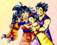 Goku and his family