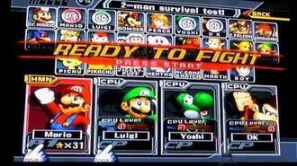 Playing Super Smash Bros. Melee in 2017 New Years Day