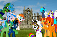 Rose pal and friends at whitby abbey by rigifan32-d8j7riy