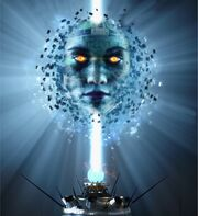 Cyberhead-on-lightstalk.-Artificial-intelligence.