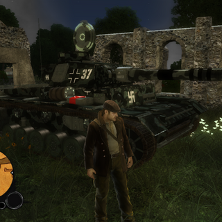 The Panzer MK. III hidden away at it's only spawn point.