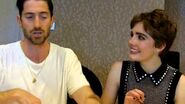 SDCC 2015- Salem - Iddo Goldberg and Elise Eberle (Isaac Walton, Mercy Lewis)