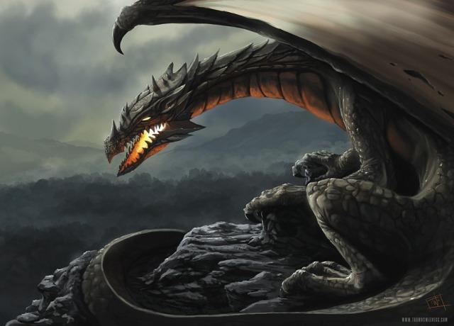 File:640x460 10957 Dragon 2d fantasy dragon mountain picture image digital art.jpg