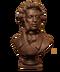 C127 Geniuses of poetry i05 Bust Pushkin