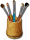 C059 Paint brushes i06 Set of brushes