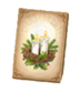 C464 Christmas cards i04 Candles card
