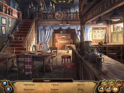 Saloon in Text Mode