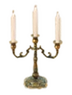 C531 Antique candlesticks i06 Elegant triple candlestick
