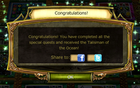 Time Trap Quest Complete Notification