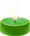 C100 Little candles i04 Green candle