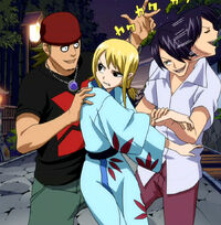 Oshibana Thugs try to kidnap Lucy