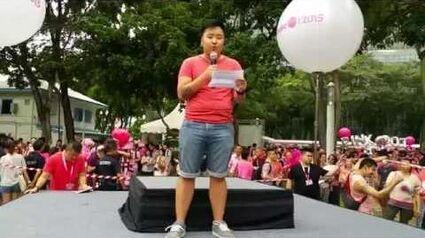 Christopher Khor's speech at Pink Dot 2015