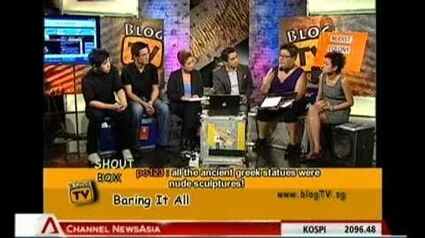 Blog TV discussion on public nudity in Singapore (Part 1 of 2)