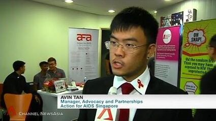 Avin Tan interviewed at 9th S'pore AIDS Conference