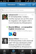 Twitter App on the iPhone
