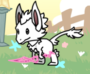 Vulpin when hold pink thing