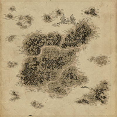 Map Crystal Isles tolkionized normal