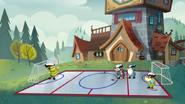S2e20a bashful, doc, sneezy and sleepy playing hockey