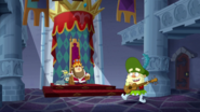 S2e20a '...she dubbed grumpy king for a day...'