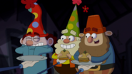 S1e17a dopey, happy and grumpy eat their sandwiches