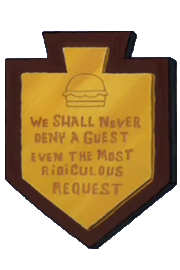 The Plaque in Krusty Towers