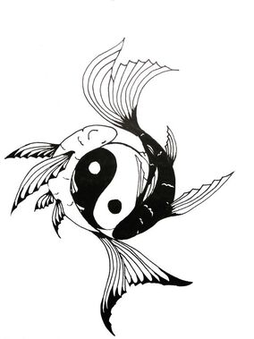 Yin yang and the fish by wearemarshal