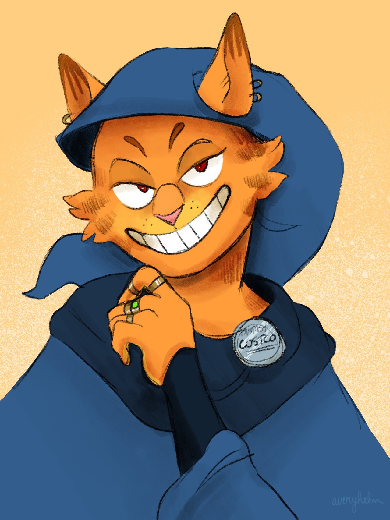 Garfield deals warlock