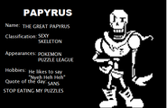 Papyrus's Intro Screen