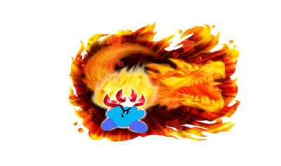 Monster Flame Blue Kirby