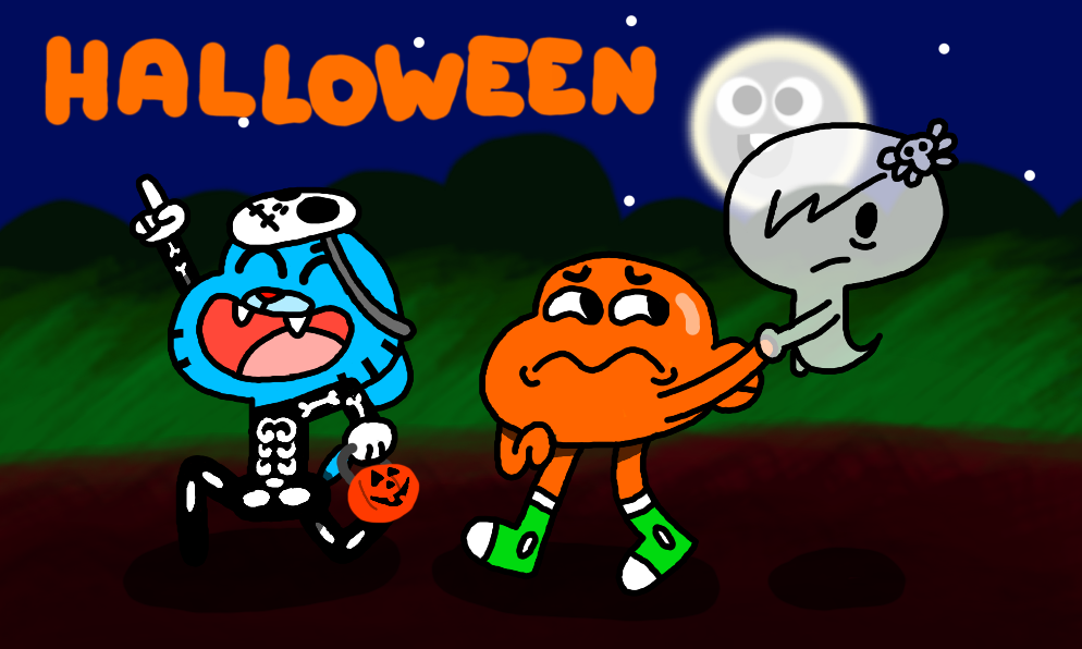 image gumball wiki halloween theme by legokirby12png the amazing world of gumball wiki fandom powered by wikia - The Amazing World Of Gumball The Halloween