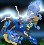 Cat fight by wani ramirez-d5uuxy5