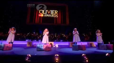 "MATILDA THE MUSICAL (West End) - ""Naughty"" LIVE @ 2012 Olivier Awards"