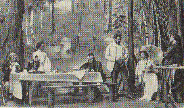 File:Uncle Vanya (1890) - Act 1, Moscow Art Theatre - Olga Knipper as Elena (right).jpg