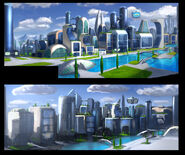 The Backyardigans Mega City Concept Art 1