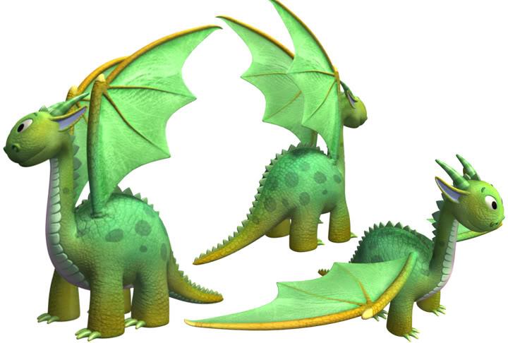 Image The Backyardigans Dragon Model The