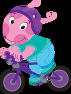 The Backyardigans Sport-Tacular Uniqua on Bicycle