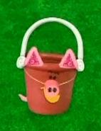 Pail dress up as a pig