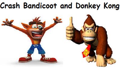 Crash Bandicoot and Donkey Kong