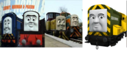 Den, Dart, Norman, Arry and Sidney as The Robo Pirates