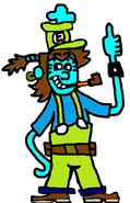 Edward as Luigi.