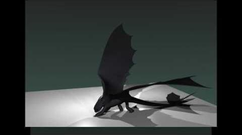 Blender Night Fury Dragon 3d Model WIP