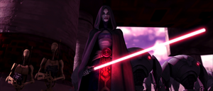 Ventress on Teth