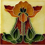 Art Nouveau Tile c1905 - H Richards.