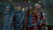 Evie, Ben, Jay and Carlos